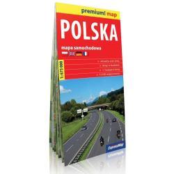 POLSKA. MAPA SAMOCHODOWA SKALA 1:675 000
