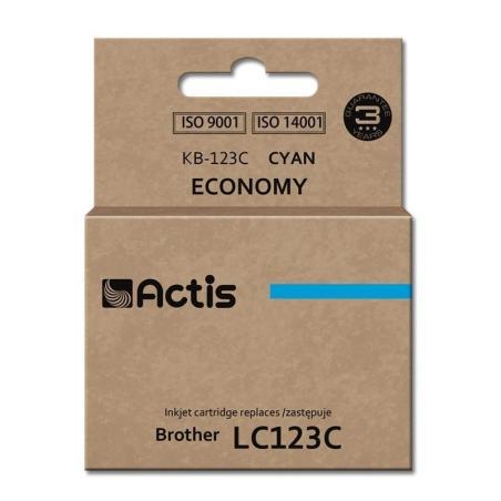 TUSZ ACTIS KB-123C BŁĘKITNY BROTHER LC-123C 10 ML