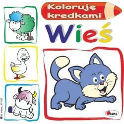 WIEŚ KOLORUJĘ KREDKAMI Kwiecińska Mirosława 3+