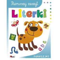 LITERKI PIERWSZY ZESZYT + NAKLEJKI Czarnecka Jolanta