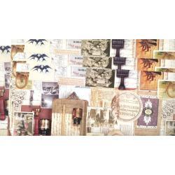 PAPIER OZDOBNY METALICZNE WZORY ARKUSZ 99,5 x 68,5 cm