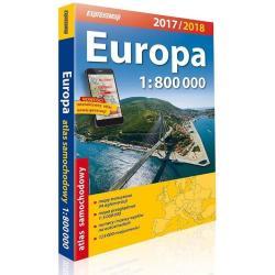 EUROPA 2017 / 2018 ATLAS SAMOCHODOWY SKALA 1:800 000
