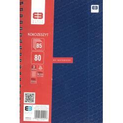 KOŁOZESZYT B5/80 Z 3 PRZEKŁADKAMI BLACK&BLUE PASTEL