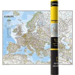 MAPA ŚCIENNA POLITYCZNA EUROPA 1:8 399 000