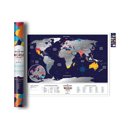 MAPA ZDRAPKA ŚWIAT TRAVEL MAP HOLIDAY WORLD