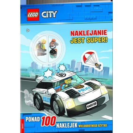 NAKLEJANIE JEST SUPER LEGO CITY PONAD 100 NAKLEJEK + FIGURKA