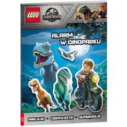 ALARM W DINOPARKU LEGO JURASSIC WORLD NAKLEJKI CIEKAWOSTKI SUPERMISJE