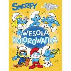 SMERFY WESOŁA KOLOROWANKA Z NAKLEJKAMI Zabrzewska Adrianna