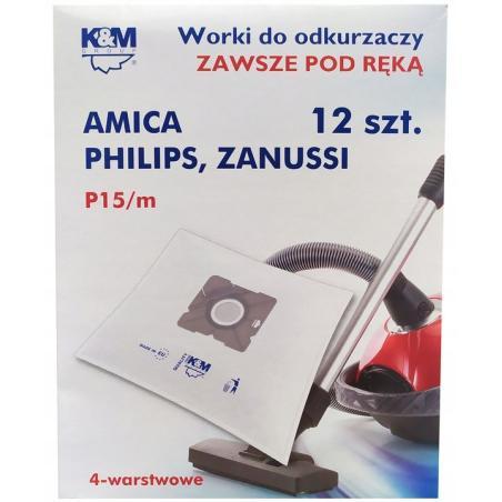 WORKI DO ODKURZACZA P15M PHILIPS AMICA ZANUSSI 12 SZT