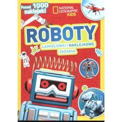 ROBOTY ŁAMIGŁÓWKI I NAKLEJKOWE ZADANIA PONAD 1000 NAKLEJEK! NATIONAL GEOGRAPHIC KIDS