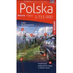 POLSKA MAPA SAMOCHODOWA 1:715 000 PLASTIK
