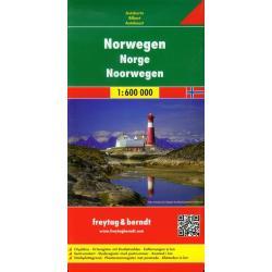 NORWEGIA MAPA 1:600 000