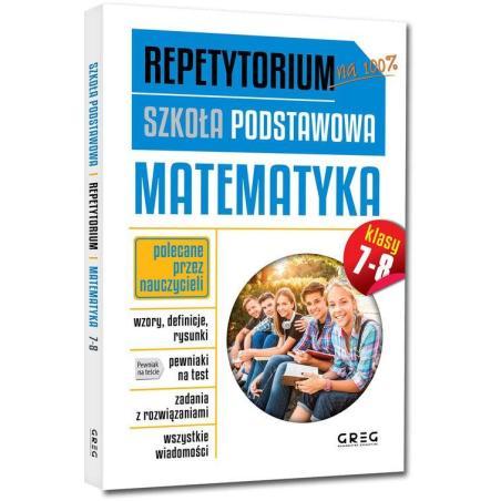 MATEMATYKA REPETYTORIUM SZKOŁA PODSTAWOWA