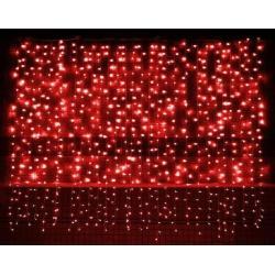 KURTYNA CHOINKOWA 400 LED CZERWONA