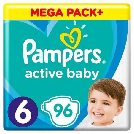 PIELUSZKI PAMPERS ACTIVE BABY ROZMIAR 6 96 SZT. 13-18 KG
