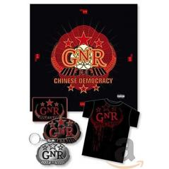 GUNS N' ROSES: CHINESE DEMOCRACY DELUXE BOX CD + T-SHIRT
