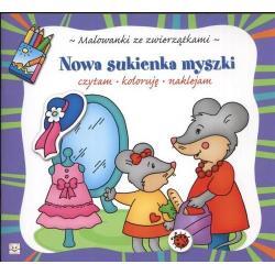 NOWA SUKIENKA MYSZKI - CZYTAM, KOLORUJĘ, NAKLEJAM Bator Agnieszka
