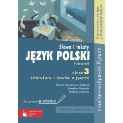SŁOWA I TEKSTY. JĘZYK POLSKI. PODRĘCZNIK KL3 LICEUM, TECHNIKUM. ZAKRES PODSTAWOWY I ROSZERZONY. Jarosław Klejnocki