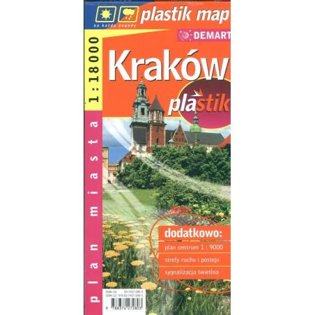 KRAKÓW PLAN MIASTA 1:18 000 PLASTIK MAP