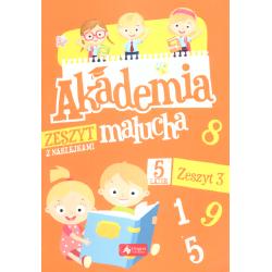 AKADEMIA MALUCHA 5-LATEK ZESZYT 3 Z NAKLEJKAMI