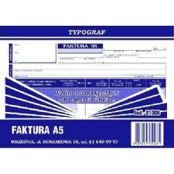 DRUKI SAMOKOPIUJĄCE TYPOGRAF FAKTURA VAT A5 80 (01008)