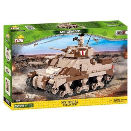 KLOCKI AMERYKAŃSKI CZOŁG M3 GRANT SMALL ARMY COBI 2391