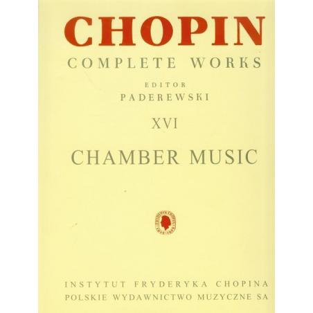 UTWORY KAMERALNE CW XVI CHOPIN Ignacy Paderewski