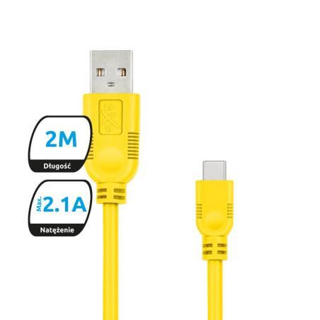 KABEL USB-C.EXC WHIPPY 2M ŻÓŁTY