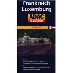 ADAC FRANKREICH LUXEMBURG MAPA DROGOWA 1:700000