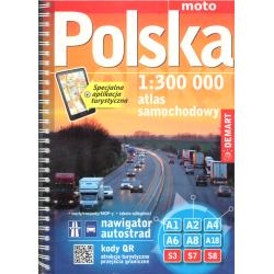 POLSKA. ATLAS SAMOCHODOWY W SKALI 1:300 000