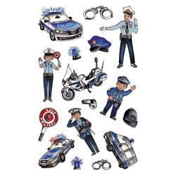 NAKLEJKI DEKORACYJNE POLICJA 3+