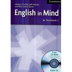 ENGLISH IN MIND 5 WORKBOOK + CD Herbert Puchta, Jeff Stranks, Peter Lewis-Jones