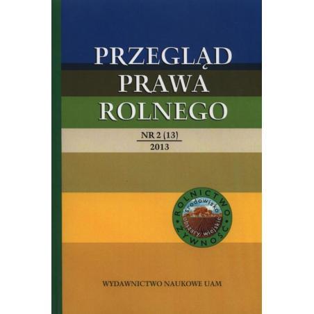 PRZEGLĄD PRAWA ROLNEGO Roman Budzinowski