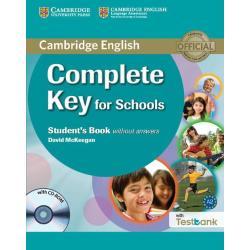 COMPLETE KEY FOR SCHOOLS A2 PODRĘCZNIK + CD David McKeegan