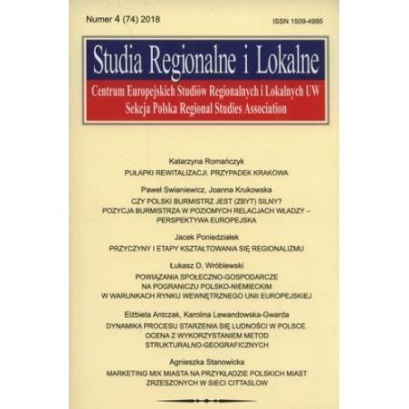 STUDIA REGIONALNE I LOKALNE (74) 2018