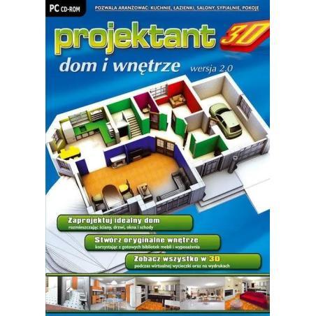 PROJEKTANT 3D DOM I WNĘTRZE WERSJA 2.0 CDROM PL