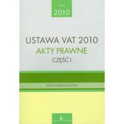 USTAWA VAT 2010 AKTY PRAWNE 1