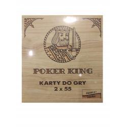 KARTY DO GRY POKER KING 2 X 55