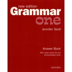 GRAMMAR ONE NEW ANSWER BOOK + CD Jennifer Seidl