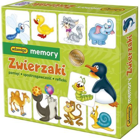 ZWIERZAKI GRA MEMORY 3+