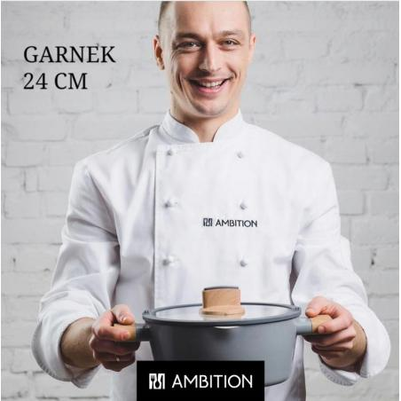 GARNEK Z POKRYWKĄ AMBITION OLIVE 24 CM 3.7L INDUKCJA