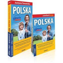 POLSKA NAJLEPSZE DLA DZIECI PRZEWODNIK ILUSTROWANY + ATLAS Justyna Tomańska