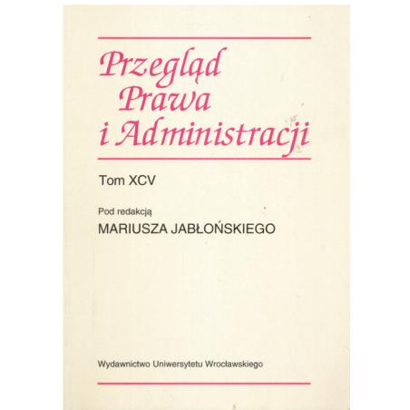 PRZEGLĄD PRAWA I ADMINISTRACJI Mariusz Jabłoński