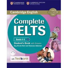 COMPLETE IELTS BANDS 4-5 STUDENT'S BOOK WITH ANSWERS WITH CD-ROM WITH TESTBANK Guy Brook-Hart