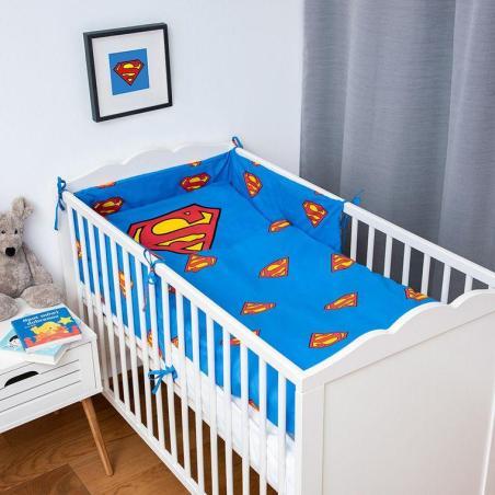 SUPERMAN 3-CZĘŚCIOWY KOMPLET POŚCIELI BAWEŁNIANEJ DO ŁÓŻECZKA 100 X 135 CM