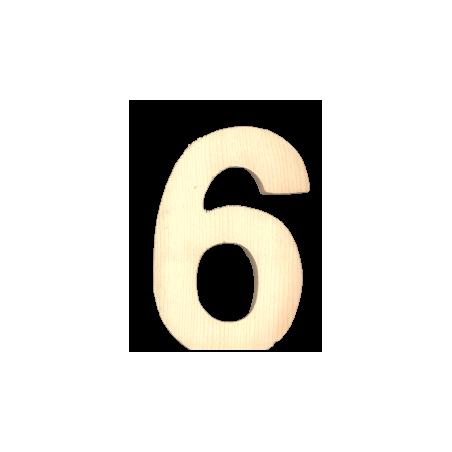 DREWNIANA CYFRA 6