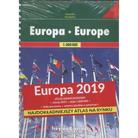 ATLAS SAMOCHODOWY EUROPA 1:800 000