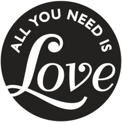 ETYKIETA DO ODLEWÓW ALL YOU NEED IS LOVE 4.5 CM