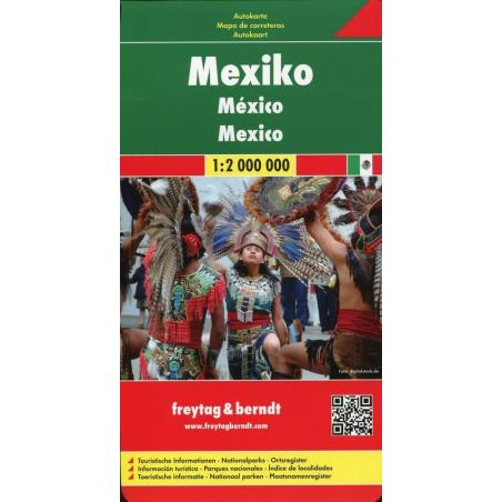 MEKSYK MAPA SAMOCHODOWA 1 : 2 000 000