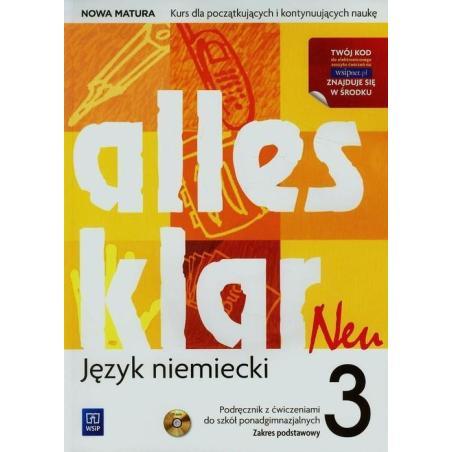 ALLES KLAR NEU 3  PODRĘCZNIK Z ĆWICZENIAMI + CD Krystyna Łuniewska, Zofia Wąsik